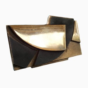 Soporte para fotos escultural de bronce de Esa Fedrigolli para Spirale Arte Milano, años 70