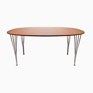 Super Ellipse Table in Rosewood by Piet Hein, Arne Jacobsen, and Bruno Mathsson for Fritz Hansen, 1983