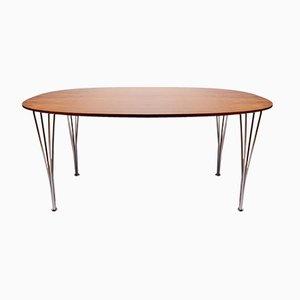 Super Ellipse Tisch aus Palisander von Piet Hein, Arne Jacobsen und Bruno Mathsson für Fritz Hansen, 1983