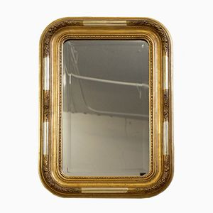 Small French Louis Philippe Stucco Mirror, 1870s