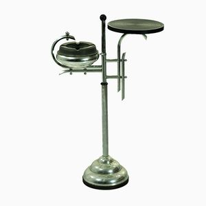 Vintage Metal Standing Ashtray with Table Top