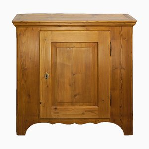 Antique Biedermeier Softwood Hall Cabinet, 1830s