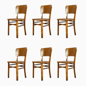 Vintage Pub Chairs, 1950s, Set of 6