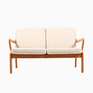 Mid-Century Danish 2-Seater Solid Teak Sofa