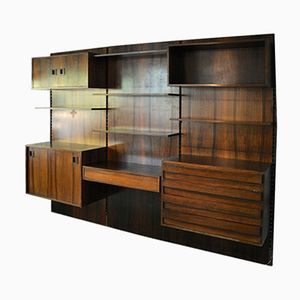 Vintage Italian Wall Unit in Rosewood