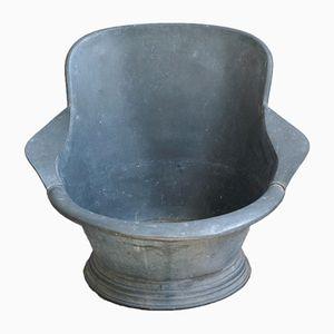 Bañera de zinc con reposabrazos, años 30