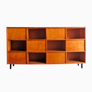 Double-Faced Teak Sideboard with Metal Feet, 1960s