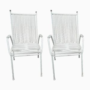 Vintage White Garden Chairs from Mauser, 1960s, Set of 2