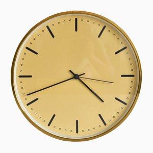 Horloge Murale de Mairie en Laiton par Arne Jacobsen, 1956