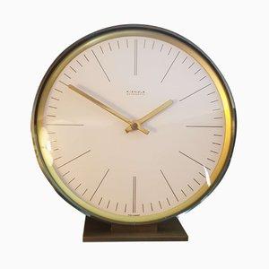 Reloj de mesa de latón de Kienzle International, años 50