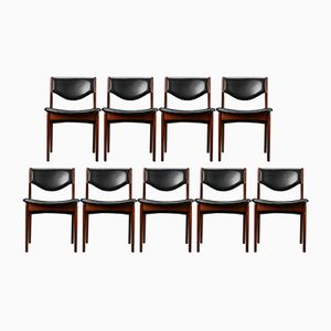 Vintage Rosewood Chairs, Set of 9