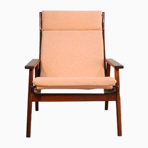 Vintage Dutch Teak Lounge Chair by Rob Parry for De Ster Gelderland, 1960s