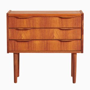 Vintage Danish Teak Small Chest of Drawers, 1960s