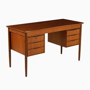 Mid-Century Teak Furnier Schreibtisch, 1960er