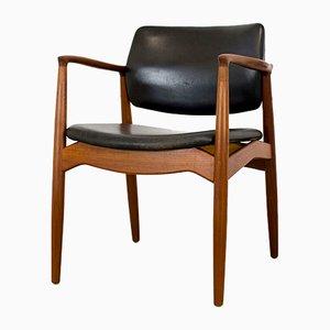 Vintage Danish Model 67 Teak Captain's Chair by Erik Buch for Orum Møbelfabrik