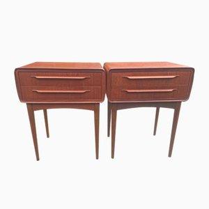 Teak Nachttische mit 2 Schubladen von Johannes Andersen für CFC Silkeborg, 1960er, 2er Set