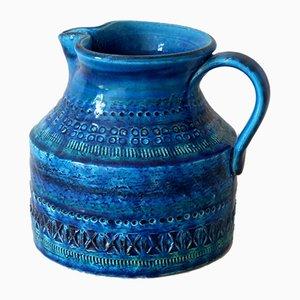 Vase aus Rimini Blue Serie von Aldo Londi für Bitossi, 1950er