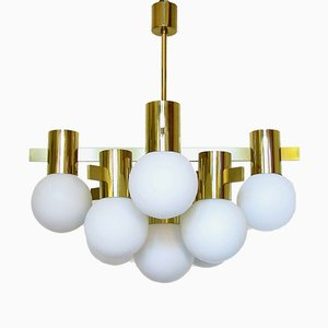 Swedish Golden Chandelier by Hans-Agne Jakobsson for AB Markaryd, 1970s