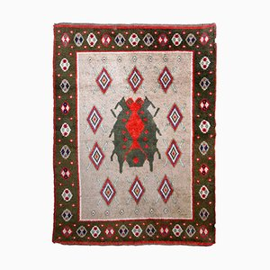 Vintage Scandinavian Handmade Rug, 1950s