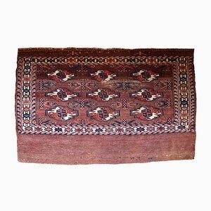 Antique Turkmenistani Handmade Yomud Rug, 1880s