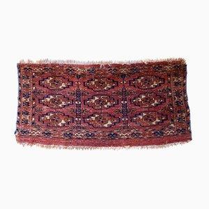 Antique Handmade Turkmen Tekke Torba Rug, 1860s