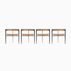 PK11 Chairs by Poul Kjaerholm, 1950s, Set of 4
