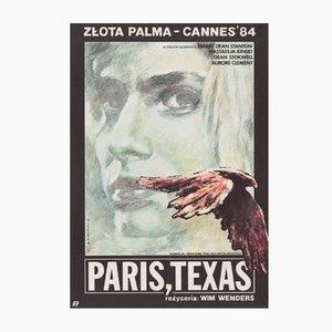Polish Paris, Texas Poster by Witold Dybowski for Polfilm, 1985