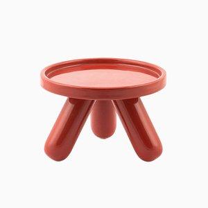 Small Gambino Ceramic Riser in Red by Aldo Cibic for Paola C.