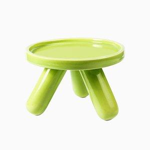 Small Gambino Ceramic Riser in Green by Aldo Cibic for Paola C.