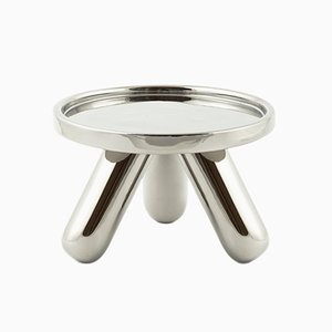 Small Gambino Ceramic Riser in Platinum by Aldo Cibic for Paola C.