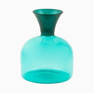 Large Karaffa Blown Glass Carafe in Green by Aldo Cibic for Paola C.