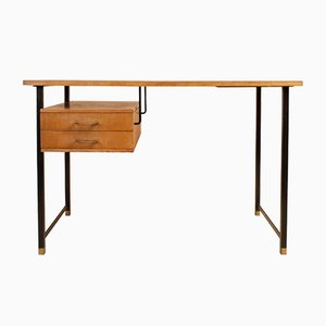 Ash and Peach Formica Desk, 1960s