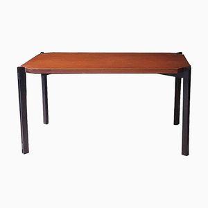 Italian Coffee Table in Teak and Metal, 1960s
