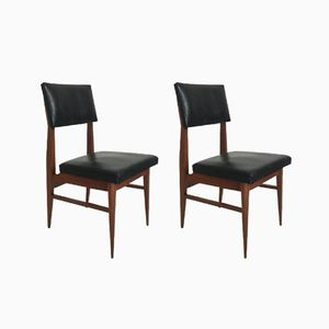 Black Chairs, 1960s, Set of 2