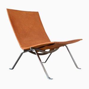 Danish PK22 Easy Chair by Poul Kjaerholm for E. Kold Christensen, 1956