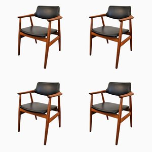 Teak Chairs by Svend Aage Eriksen for Glostrup, 1960s, Set of 4