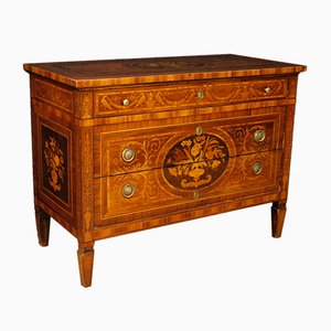 Italian Chest of Drawers with Inlaid Wood, 1950s
