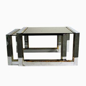 Brass and Chrome Nesting Tables, 1970s