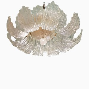Murano Clear Glass Chandelier from Barovier & Toso, 1970s