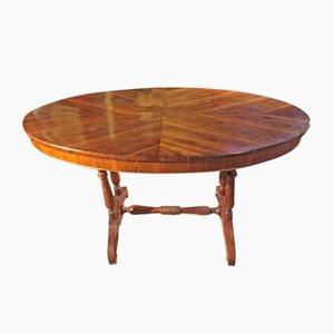 Ovaler italienischer Tisch aus Walnuss