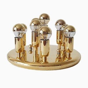 Space Age Gilded Flush Mount from Mand Leuchten, 1970s