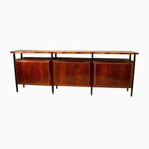 Large Italian Sideboard with Tricolored Striped Top, 1950s