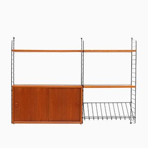 Teak Wall Unit from Kajsa & Nisse Strinning for String, 1960s
