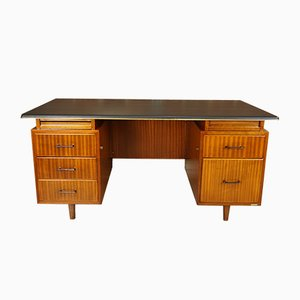 Teak and Leatherette Executive Desk from Burwood Waendendries, 1955