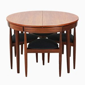 Teak Dining Table Set by Hans Olsen for Frem Røjle