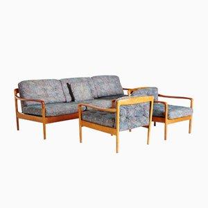 Set da salotto con struttura in teak di Knoll International, anni '60