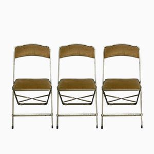 Steel Folding Chairs from Maurice Rogge, 1960s, Set of 3