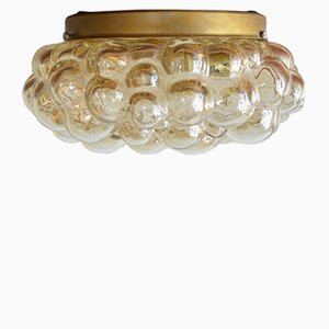 Mid Century Bubble Glass Flush Mount Ceiling Lamp By Helena Tynell, 1960s