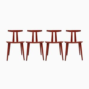 J111 Chairs by Poul Volther for FDB, Set of 4