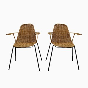 Basket Chairs by Gian Franco Legler for Aarea, 1952, Set of 2